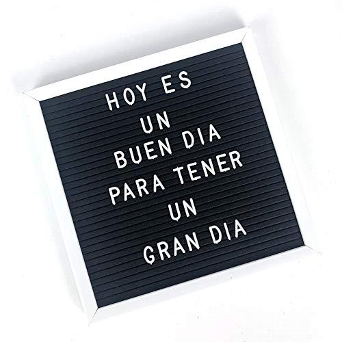 TH Tablero Fieltro Pizarra Mensaje Letras DIY 30x30 (Negro)