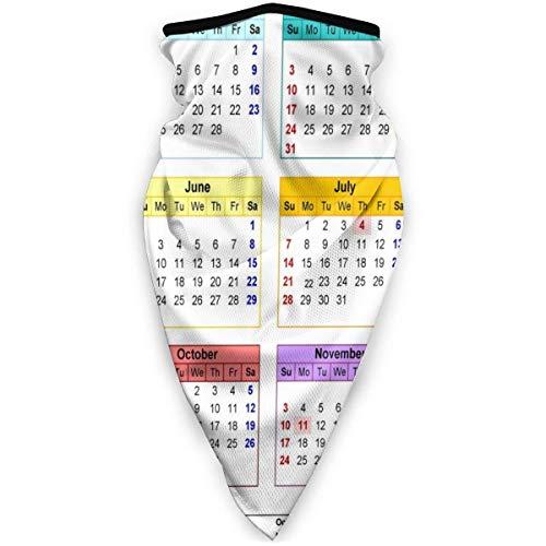NA halsmanchet ademend gezichtsmasker winddicht 2019 kalender nekwarmer sjaal anti-stof markeringen