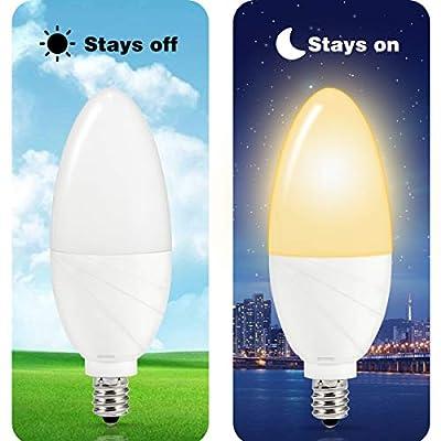 TechgoMade Dusk to Dawn Sensor LED SPOT Light Candelabra LED