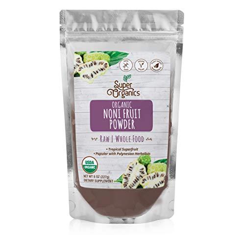 Super Organics Noni Fruit Powder   Tropical Superfruit   Organic Superfood Powder   Vegan, Gluten-Free & Non-GMO, 8 oz