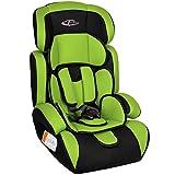 TecTake Seggiolino per auto | gruppo I/II/III, 9-36 kg | 1-12 anni | disponibile in diversi colori (Verde/Nero | no. 400573) (Prodotti per l'infanzia)