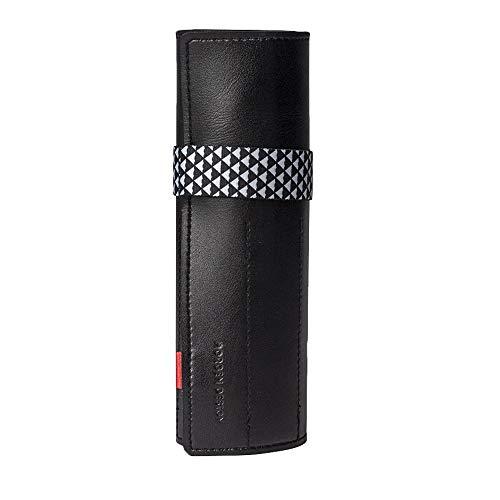Einfarbiger PVC-Vorhang, schwarzes Federmäppchen, 10 Löcher (konventionell), 9 Löcher (erweitert) optional, hochwertige Stiftablage, elastisches Seil, PVC-Material (Design : Widening)