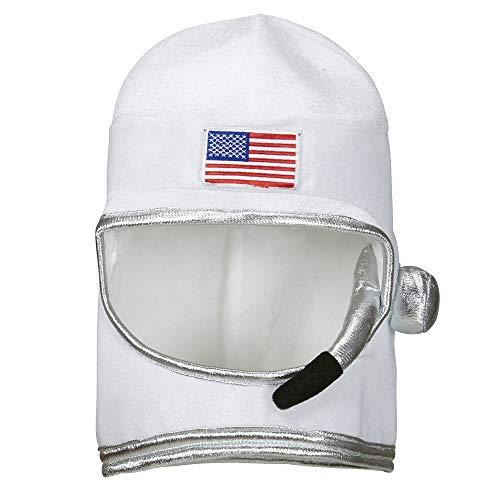 WIDMANN-Casco de Astronauta, para Adultos, Talla única, Color Blanco, (01116)