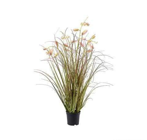 Klocke Kunstpflanzen Künstliches Gras im Topf - Neu 2020 - Hochwertiges Cattail Dekogras/Grasbüschel/Grasbusch/Grasbündel/Ziegras/Ufergras (Medium - Höhe: 80cm)