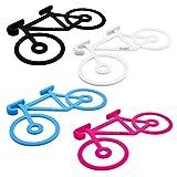 baiki Fahrrad Halterung für Handy/Jacke/Werkzeug, Silikon, Stark, Flexibel, Set 4 Farben