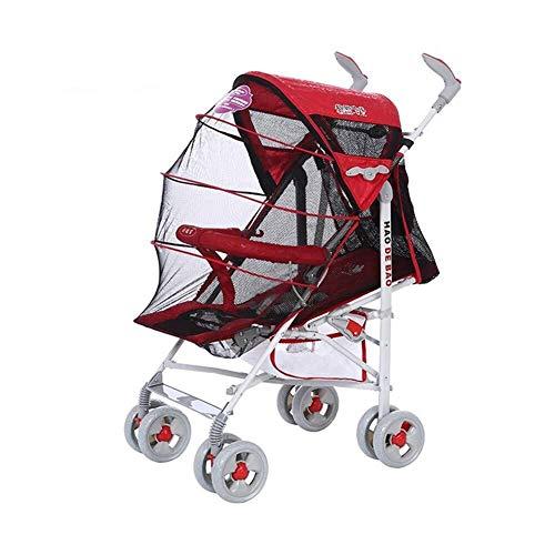 MAMINGBO Cochecito de bebé, cochecito y cochecito de bebé plegable ligero, con posición acostada, sistema de viaje for lluvia Cochecito de bebé Cochecito de bebé (Color : Rojo)