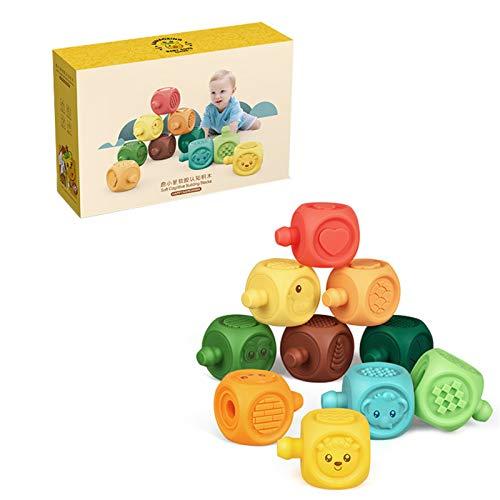 Qingxin Juego de bolas de juguete para pellizcar la bola 6/10/16 piezas con textura de juguete para exploración sensorial y compromiso para edades de 6 meses en adelante