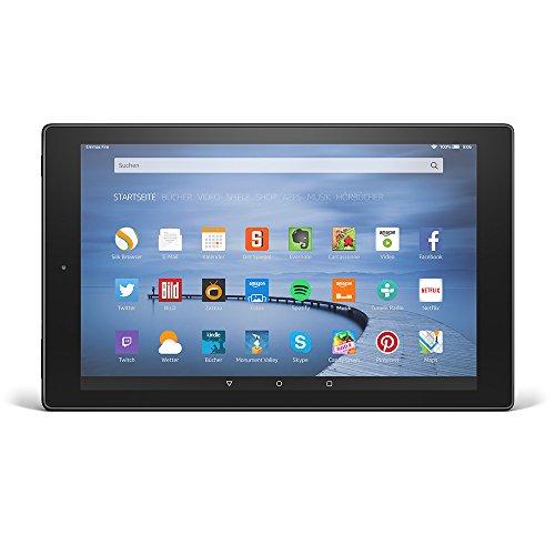 Fire HD 10, (Zertifiziert und generalüberholt), 26,7 cm (10,1 Zoll), HD-Display, WLAN, 16 GB (Schwarz) - Mit Werbung (Vorherige Generation – 5)