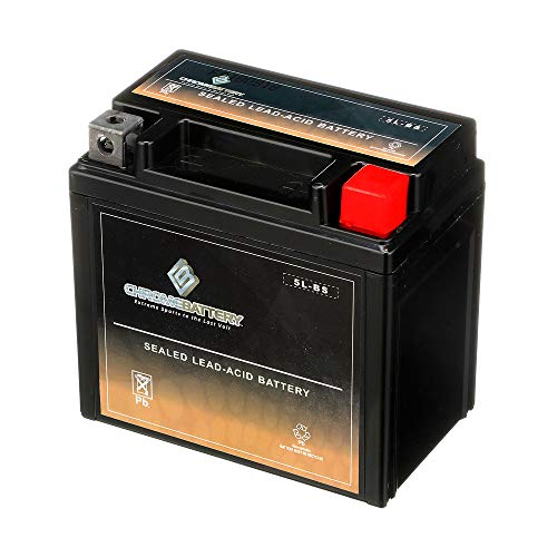 Chrome Battery YTX5L-BS - Rechargeable Motorcycle Battery - Replacement for CT5L-BS, CTX5L-BS, ES5L-BS, GTX5L-BS, PTX5L-BS - Maintenance Free