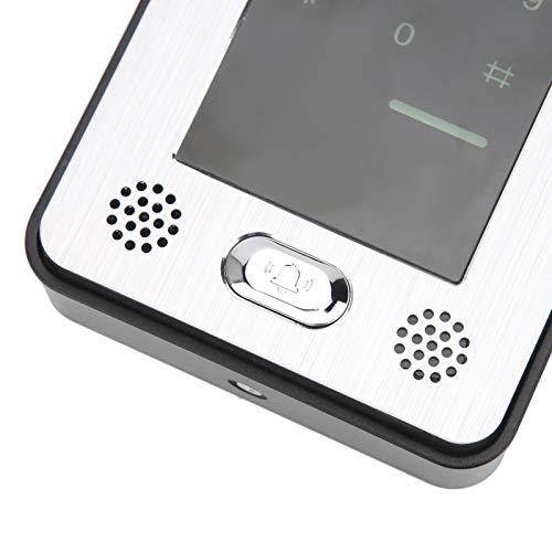 Videoportero, videoportero Sistema de 2 cables Soporte de intercomunicador manos libres Soporte de entrada y salida Alta definición para sistema de control de acceso