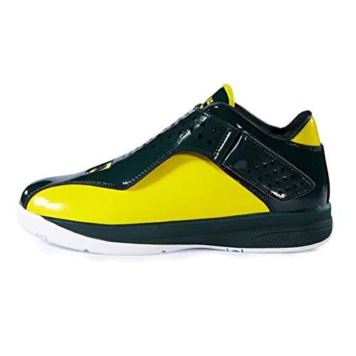 LangfengEU Herren Turnschuhe Mode Lackleder Plattform Leichte Knöchel Sportschuhe Daily Walking Schnürung Casual Running Schuhe