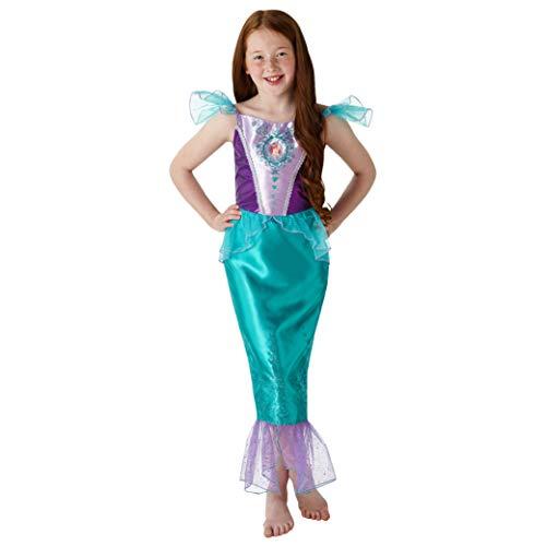 Rubies 640716M Disfraz oficial de princesa Ariel de Disney, para niñas, tamaño mediano de 5 a 6 años, altura de 116 cm