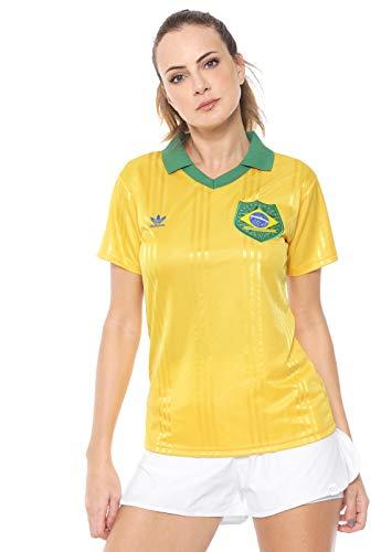 Camisa Brasil Adidas Originals Fan Feminina Amarela (PP)