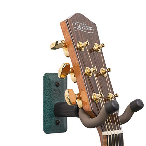 String Swing Guitar Hanger - Holder for Electric Acoustic and Bass Guitars - Stand Accessories Home or Studio Wall - Musical Instruments Safe without Hard Cases