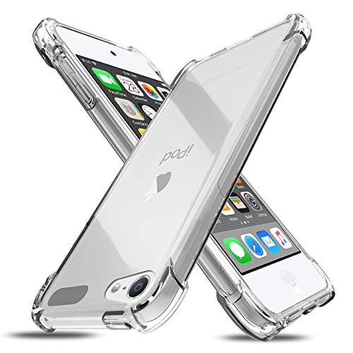 iPod Touch 2019 iPod Touch 7th/6th/5th Generation Case Apple iPod Touch 5/6/7 Clear Case AntiScratch amp NonSlip Flexible Thin Cover Shockproof Bumper Ultra Slim Soft TPU Phone Case HD Clear