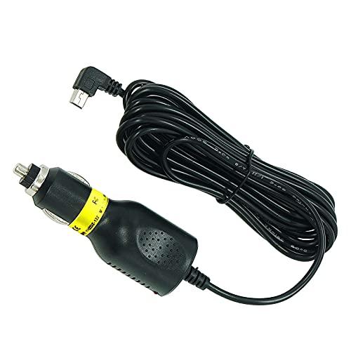 シガーアダプター シガー電源ケーブル ミニUSB L型 直角 シガーソケット ケーブル長 3.5m 12V / 24V 車用 ドライブレコーダー/GPS/タブレットPC/PDA/DVD録音機などに適用