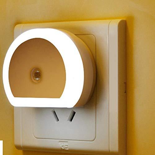 Icoco LED-nachtlampje met dubbele stekker voor lader voor muur USB wandlamp met sensor voor schemering bij zonsopgang energiebesparend Ue-Usa-China_Us
