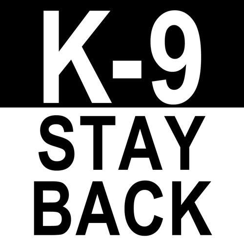 JR Studio 4x4 inch K-9 Stay Back Sticker - Caution Dog Breed Love Police Service Canine Vinyl Decal Sticker Car Waterproof Car Decal Bumper Sticker