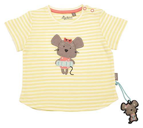 Sigikid Baby-Mädchen T-Shirt, Gelb (Luminary Green 387), (Herstellergröße: 62)