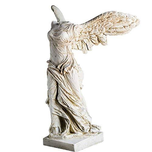 Museo de la Mesa, alada Victoria de Samotracia Estatua Escultura de la Diosa de la Obra Maestra del Museo del Louvre Réplica-Blanco 31x23x17cm (12x9x7 Pulgadas)