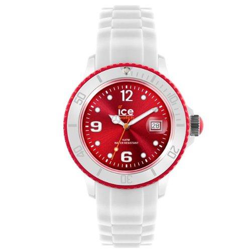 Ice-Watch SI.WD.B.S - Reloj analógico de Cuarzo Unisex, Correa de Silicona Color Blanco
