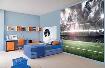 Awesome Photo Football Stadium Kids Boys Bedroom Wallpaper Wall Mura 2xl Amazon Co Uk Diy Tools