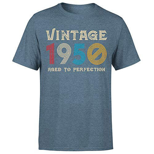 Classic Vintage 1950 Aged to Perfection 71st Birthday Gift Mens T-Shirt regalo para él