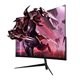 Oecrayy 24' Curved Gaming Monitor 144Hz 1080p 2ms VA Display Monitor, Full HD Eye Care Curved Screen Computer Monitor with HDMI DP Port, Black