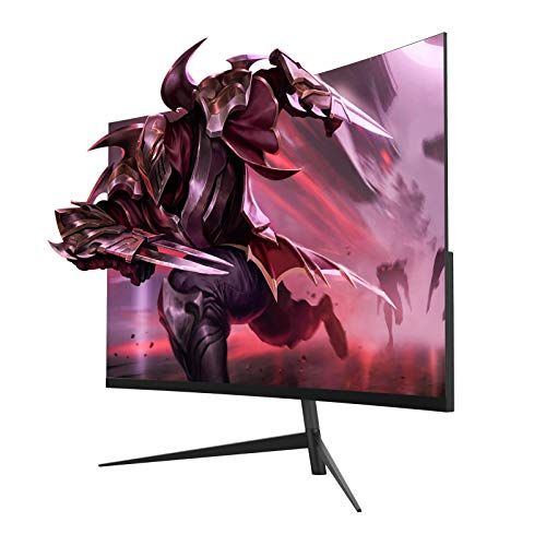 """Oecrayy 24"""" Curved Gaming Monitor 144Hz 1080p 2ms VA Display Monitor, Full HD Eye Care Curved Screen Computer Monitor with HDMI DP Port, Black"""
