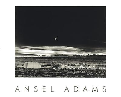 Impressão artística FineArtOnSale.Com Moonrise, Hernandez por Ansel Adams (Tamanho total: 30 x 24) (Tamanho da imagem: 22,5 x 17,75), 24x30 Print, 1