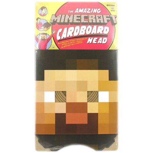 Máscara de Minecraft J. NX Steve Kopf 30 cm - Cartón
