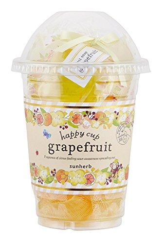 サンハーブ ハッピーカップ グレープフルーツ(バスアイテムとスポンジが入ったプチプラなバスセット シャキっとまぶしい柑橘系の香り)