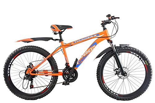 ORBIS CYCLES Thunder-X 26 Inches 21 Speed Gear Cycles Under 10000 for Adults (Orange)