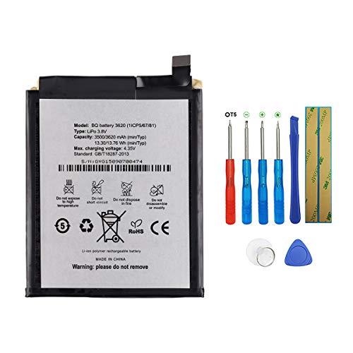 SWARK Bateria BQ 3620 Compatible con BQ Aquaris M5.5 Batería con herramientas