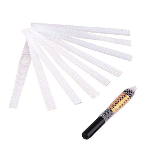 EOPER 100 Pieces Protecteur de Pinceau de Maquillage, Couverture de Filet de Pinceaux de Cosmétique, Blanc