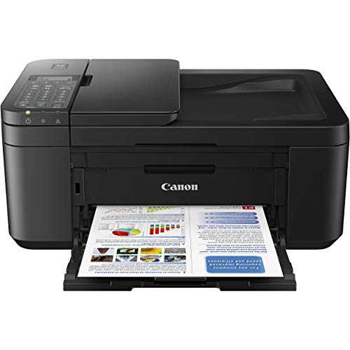 Canon PIXMA TR4519 All-in-One Color Wireless Inkjet Printer for Home Office - 4-in-1 Print, Scan, Copy, Fax - Auto 2-Sided Borderless Printing, Auto Document Feeder, Support Alexa and Google Assistant