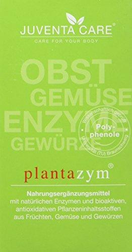 Juventa Care plantazym - Nahrungergänzungsmittel - mit natürlichen Enzymen und bioaktiven, antioxidativen Pflanzeninhaltsstoffen aus Früchten, Gemüse und Gewürzen, 60 Kapseln