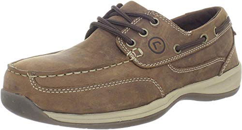 Rockport Works Men's Sailing Club 3 Eye Tie Boat Shoe-Tan-11 M