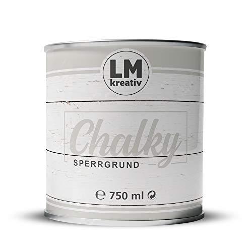 LM Sperrgrund für Shabby Chic 750 ml (Transparent) Sperrgrund Kreidefarbe für Chalk Paint - Isoliergrund Kreidefarbe auf Wasserbasis - Made in Germany