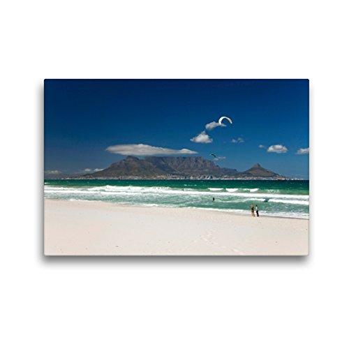 Premium Textil-Leinwand 45 x 30 cm Quer-Format Kapstadt und der Tafelberg | Wandbild, HD-Bild auf Keilrahmen, Fertigbild auf hochwertigem Vlies, Leinwanddruck von Schickert
