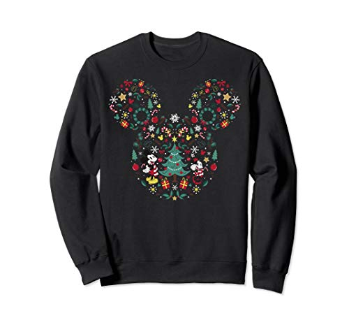 Disney Mickey And Friends Christmas Symbol Ear Fill Sweatshirt