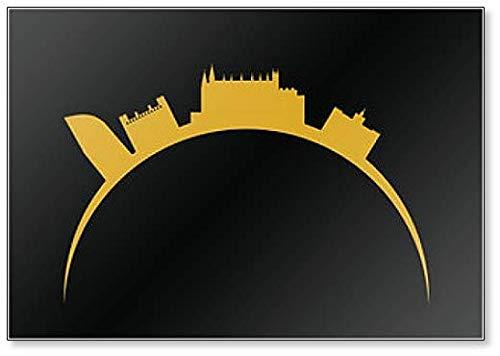 Palma City - Imán para nevera con diseño de Skyline en Mallorca
