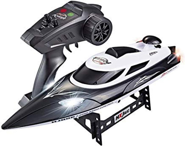 Giocattolo per barca elettrico telecouomodato, giocattolo per ragazzo per barca a velocità esterna, telecouomodo ad alta frequenza da 2,4 Ghz, retromarcia   vibrazione   timone sinistro e destro