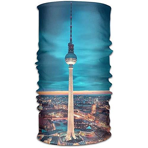 ulxjll Bandanas Berlin Germany Wickelmaske Kopftuch Schal Schweißband Outdoor Stirnbänder Kopfbedeckung Bandana