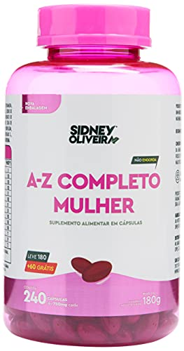 Suplemento Alimentar A-Z completo mulher Sidney Oliveira 240 capsulas