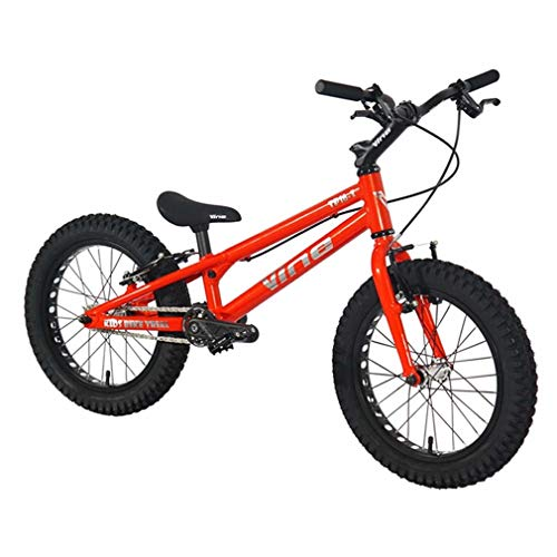LJLYL VINE-16 16 Zoll Street Trials Bike Komplettes Trial Bike für Kinder, TP16 I Aluminiumlegierung Rahmen und Gabel, WINZIP V Bremse,Rot