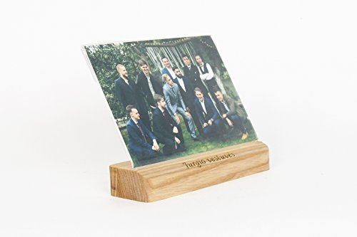 Foto-Block, Hochzeitsgeschenk aus Holz, Fotohalter, personalisierte Bilderrahmen, Fotohalter, Foto Holzblock, Hochzeitsgeschenk Holz