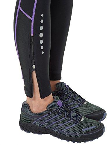 Ultrasport Advanced Damen Sporthose, Laufhose lang, Fitnesshose mit Kompressionswirkung, Quick Dry, Kontrast-/Flachnähte, Reflective Prints, justierbarer Bund und Schlüsseltsche mit Reißverschluss - 6