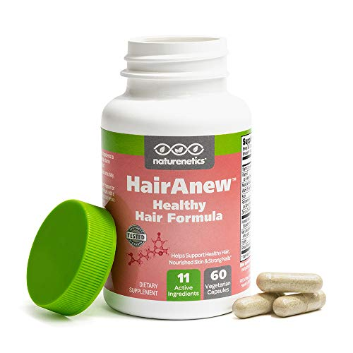 HairAnew: Focused Hair Formula For Women - For Stronger, Thicker, Healthier Hair - 5000 Biotin PLUS Key Hair Vitamins, Minerals, Nutrients - Independently Tested - Vegan - Gluten Free - Non-GMO