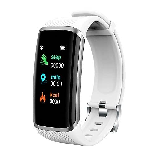Pulsera de fitness con pulsómetro, resistente al agua, IP67, rastreador de fitness, reloj inteligente de fitness con pantalla a color de 1,2 pulgadas, rastreador de actividad, reloj deportivo (B)